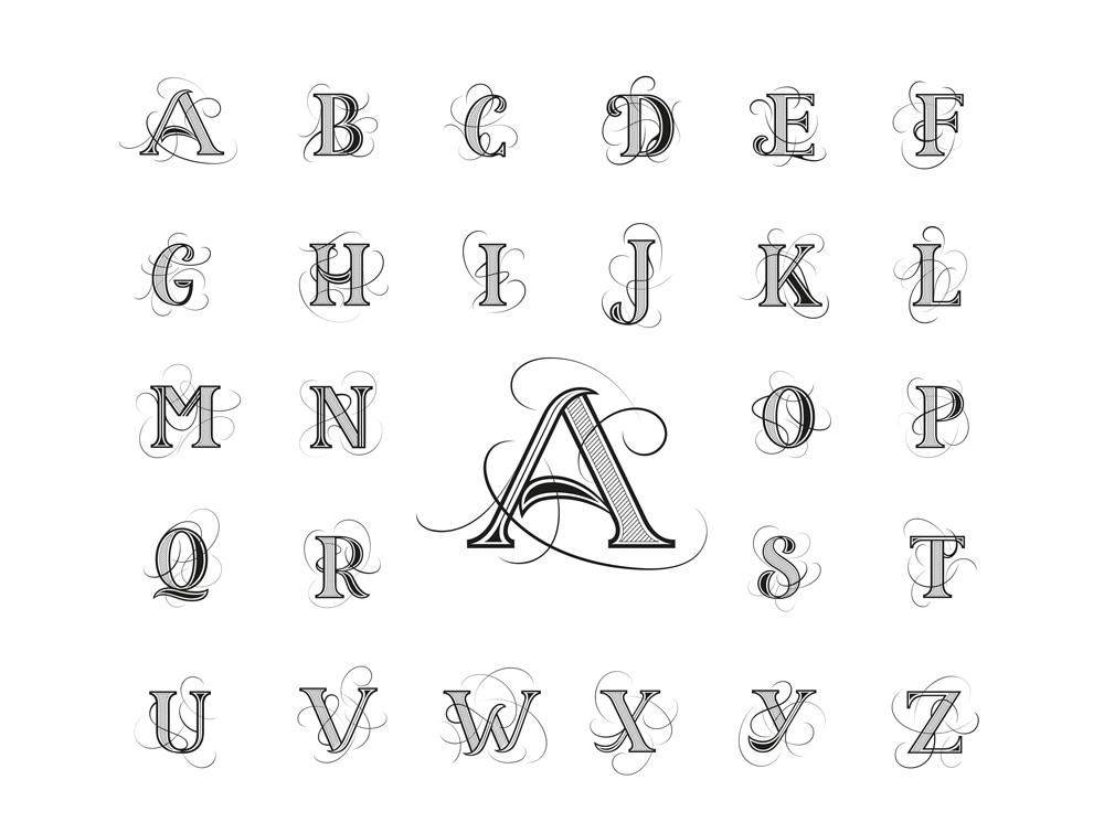 Gesamtes Alphabet