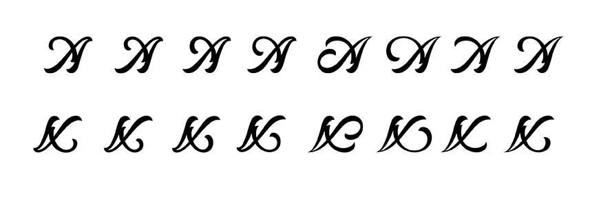 Initialen-Varianten