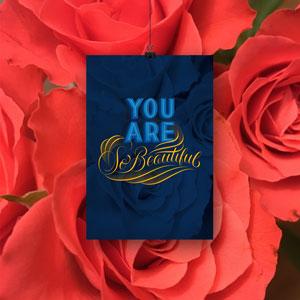Handlettering-Romantik-Karte