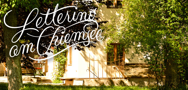 Brushlettering am Chiemsee