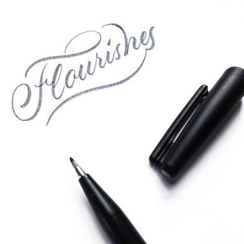 Flourishes mit Brushpen