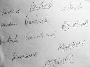 Skizzen-Handschrift