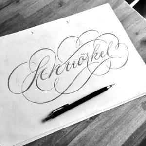 Schnörkel-Schriftzug