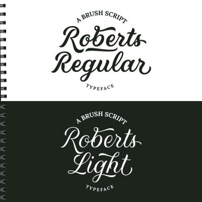 Roberts-Script-Font-Visual