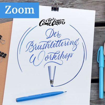 Der Brushlettering Workshop über Zoom
