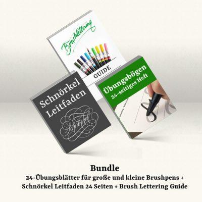 Bundle Schnörkel, Guide, Übungsbögen