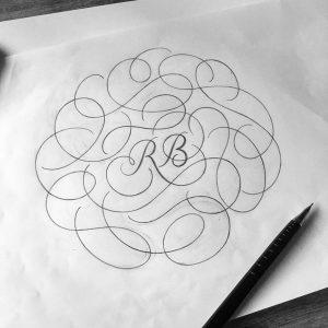 Monogramm mi Flourishes