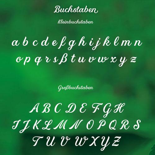Robert's Script Buchstaben