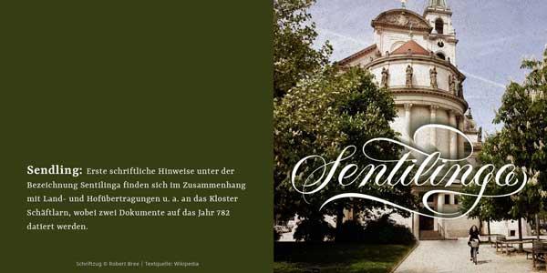 Sentilinga-Schriftzug