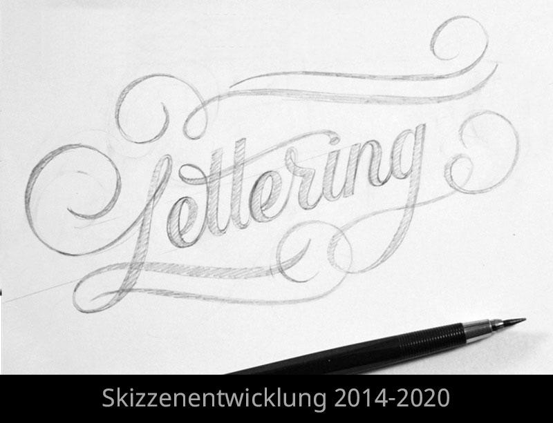 Skizzen Entwicklung von 2014-2020
