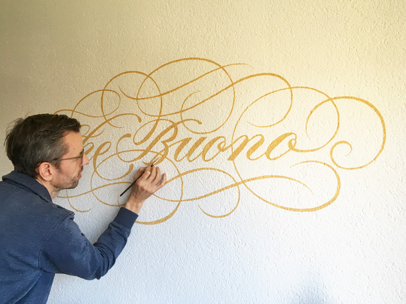 "Wand Lettering ""Mural"""