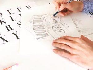 Lettering Komposition