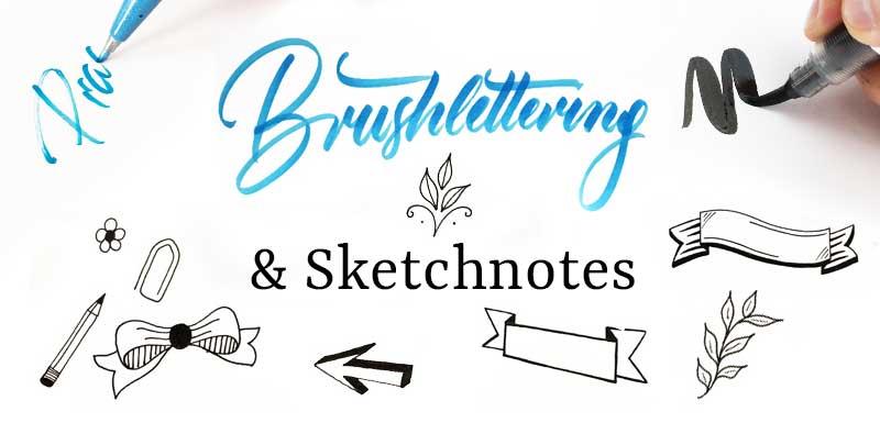 Brushlettering-Sketchnotes