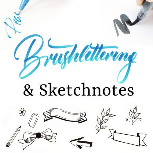 Brushlettering-Sketchnotes-Produkt