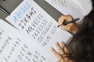 Brush Lettering Lektion