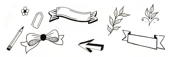 Doodle Grafikelemente