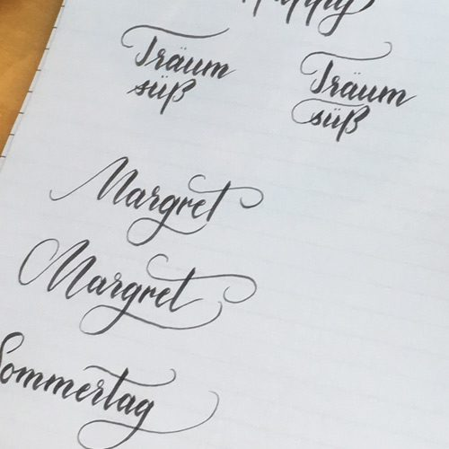 Brush Lettering Sketchnotes Logodesign Und Handlettering