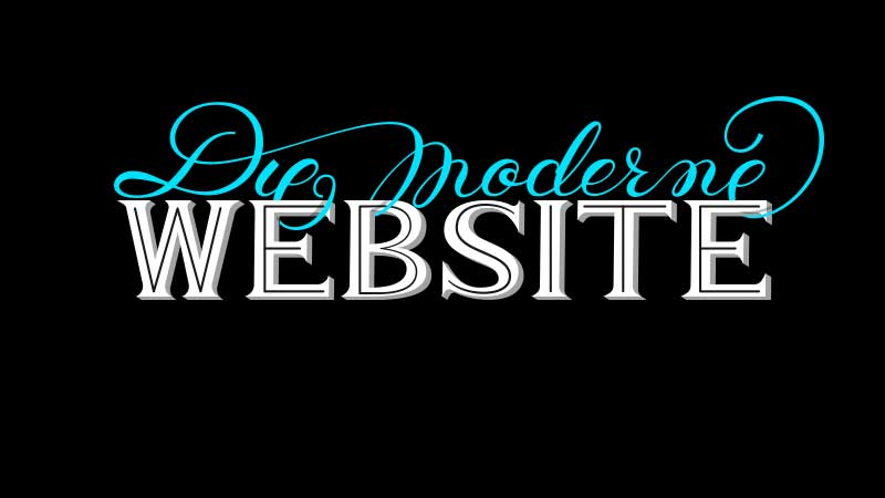 Die moderne Website