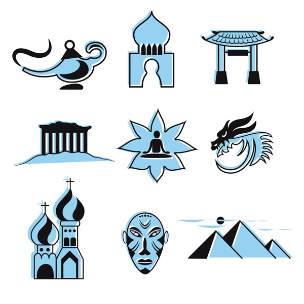 Symbole interkultureller Austausch