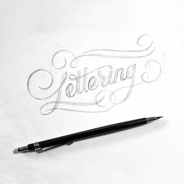 Lettering Skizze