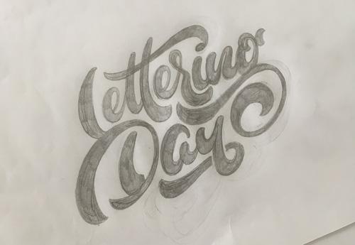 lettering day skizze