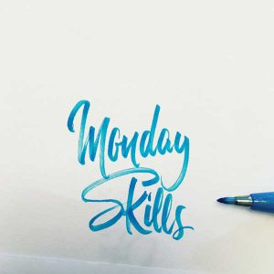 weekly skills for brushlettering