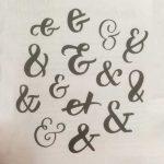 Ampersand in verschiedenen Stilen