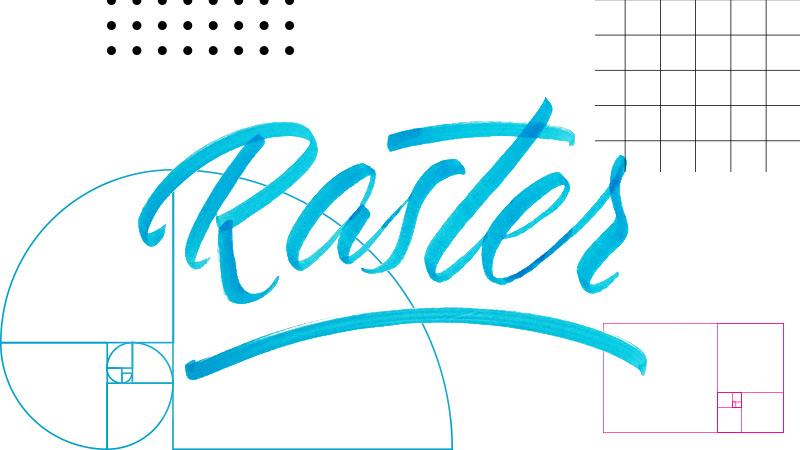 Raster im Logodesign