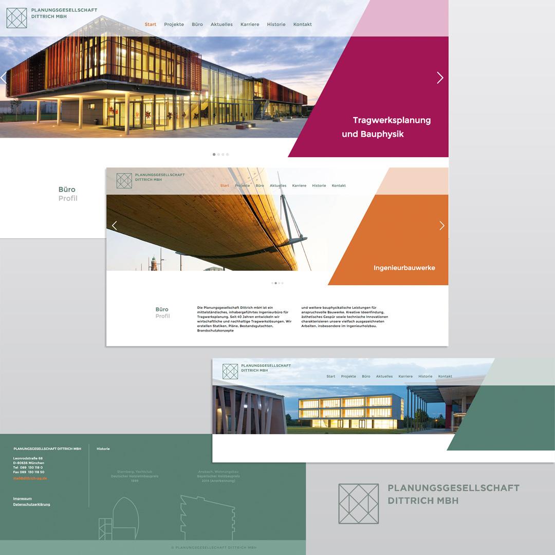 Webdesign für die Planungsgesellschaft Dittrich in München